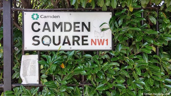 Camden Square street sign, London