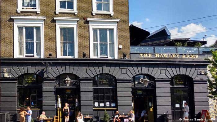 Hawley Arms Pub in Camden