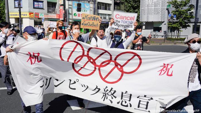 Демонстрация против проведения Олимпиады в Токио