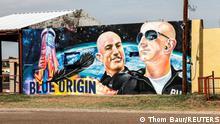 USA Texas Van Horn | Graffiti | Weltraumfahrt von Jeff Bezos & Mark Bezos