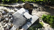 EUSKIRCHEN, GERMANY - JULY 18: A view of the disaster area after severe rainstorm and flash floods hit western states of Rhineland-Palatinate and North Rhine-Westphalia in Bad Munstereifel town of Euskirchen, Germany on July 18, 2021. The death toll rises to 156 after the floods in west of Germany Rhineland-Palatinate and North Rhine-Westphalia. Abdulhamid Hosbas / Anadolu Agency