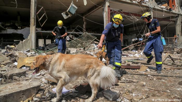 Libanon, Beirut | THW Kräfte im Auslandseinsatz