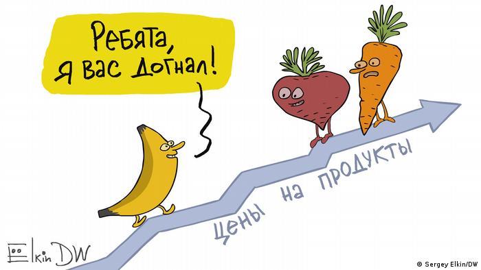 DW Karikatur | Sergey Elkin | Bananen Russland
