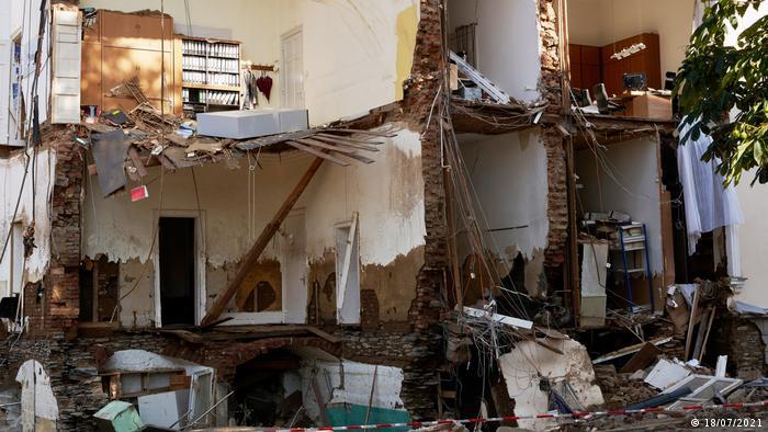 Edificio de oficinas destruido en Bad Neuenahr.