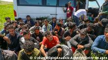 VAN, TURKEY - MAY 21: 49 irregular migrants, 4 of whom were injured, involved in an accident while escaping from the gendarmerie teams in Tusba district of Van, Turkey on May 21, 2021. (Photo by Ozkan Bilgin/Anadolu Agency via Getty Images)