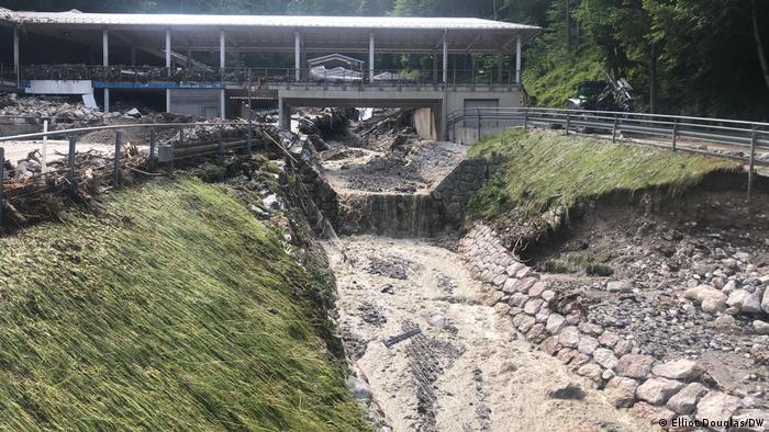Bayern I Zerstörung nach Hochwasser im Berchtesgadener Land