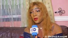 Shakiro, eine Transgender-Person aus Douala, Kamerun