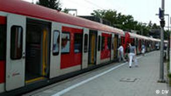 A commuter train
