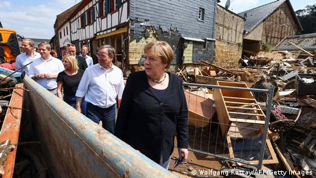 German Chancellor Angela Merkel in Bad Münstereifel