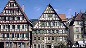 Calw Fachwerkhäuser am oberen Marktplatz