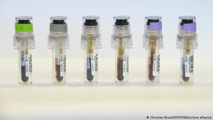 Blood samples for doping tests
