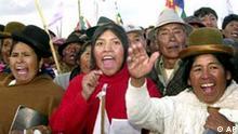 Anhängerschaft von Felipe Quispe - Wahlen in Bolivien