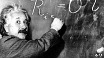 Albert Einstein mit Galeriebild