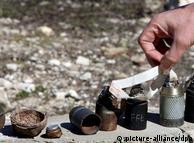 Projéteis encontrados após guerra entre Israel e Líbano