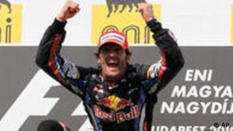 Mark Webber on podium