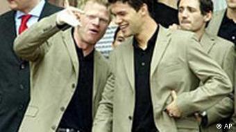 Fussballer: Oliver Kahn und Michael Ballack in Frankfurt a.M.