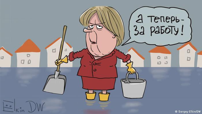 Moskau | Sergey Elkin Karikatur | Merkel