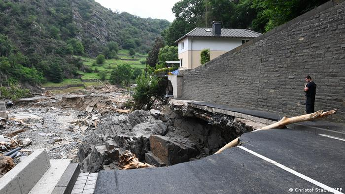 Devastation caused by the floods in the city of Altenahr, Rhineland-Palatinate, western Germany