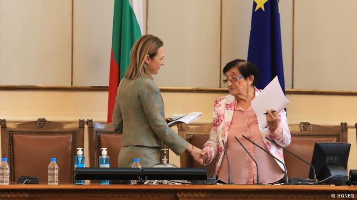 Bulgarien Iva Miteva - Vorsitzende des Parlaments