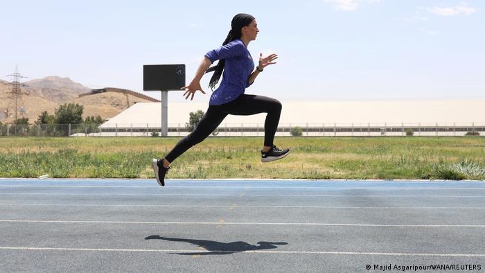 Iran, Teheran | Farzaneh Fasihi beim Training für die Olympischen Spiele in Tokio