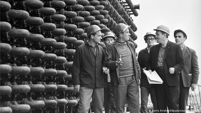Радянські та польські спеціалісти на Рівнеазоті, 1971 рік