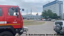 Havarie auf Rivneazot AG - einer der größten Hersteller von Ammoniumnitrat-Düngemitteln in der Ukraine. Pressebild https://www.dsns.gov.ua/ua/Nadzvichayni-podiyi/126803.html © State Emergency Service of Ukraine
