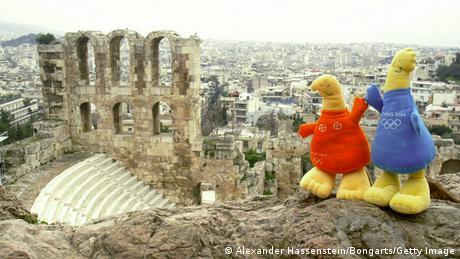 Феб и Афина - талисманы Олимпиады в Греции