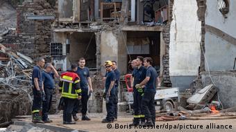 I vigili del fuoco tedeschi aiutano dove e come possono in caso di inondazioni catastrofiche
