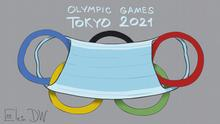 Thema: Olympische Spiele in Tokio werden unter strengen Corona-Auflagen und ohne Zuschauer stattfinden. DW, Sergey Elkin, Jahr/Ort: Moskau, 21.07.2021