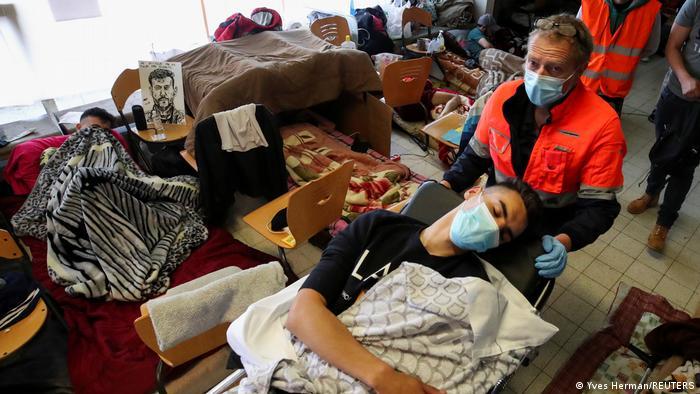 Belgien Migranten Hungerstreik