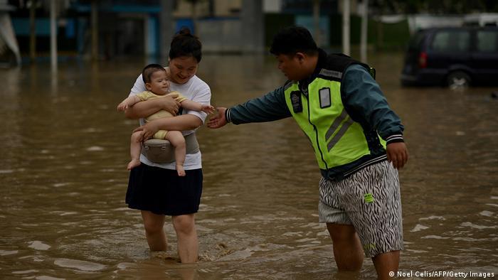 China Unwetterkatastrophe