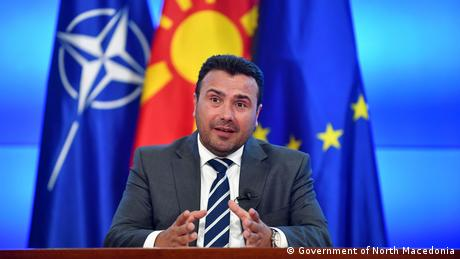 North Macedonia's Prime Minister Zoran Zaev appearing on DW's Conflict Zone