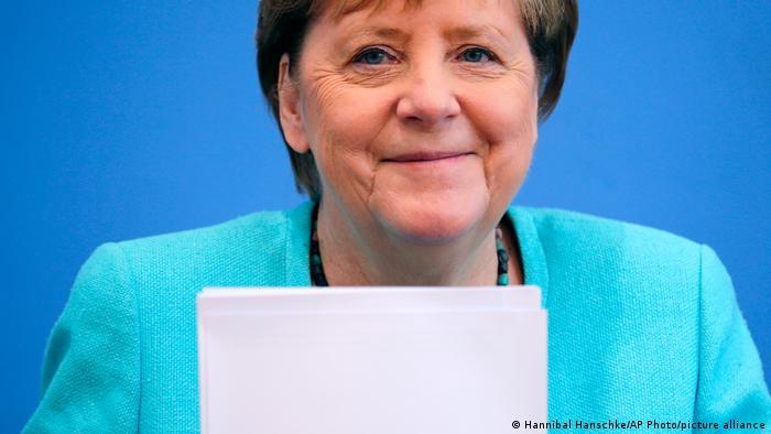 Angela Merkel smiles
