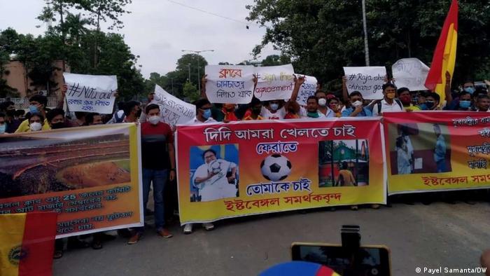 Bangladesch Fußball Kalkutta Protest