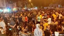 Titel: Protest Bildbeschreibung: nächtliche Proteste in iranische Provinz Khouzestan. Stichwörter: Iran, Protest, Khouzestan Quelle: rajanews Lizenz: Frei via Mahmood Salehi