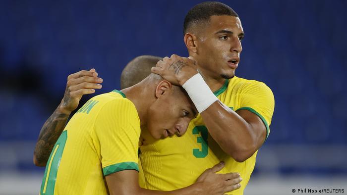 Olympische Sommerspiele 2020 |Fußball | Brasilien vs. Deutschland | 1. TOR Brasilien