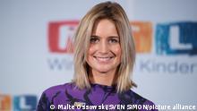 Susanna OHLEN, Moderatorin, Portraet, Porträt, Portrait, Angeschnittenes Einzelbild, Einzelmotiv, 24. RTL Spendenmarathon Wir helfen Kindern, Fernsehen, 21.-22.11.2019.