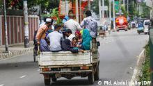Pictures captured during the reimposed lockdown in Bangladesh. DW, Md. Abdul Halim, 23. Juli 2021