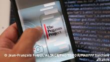 ©PHOTOPQR/L'ALSACE/Jean-François FREY ; ; 20/07/2021 ; Le logiciel espion Pegasus le 20 juillet 2021. - Rights activists, journalists and lawyers around the world have been targeted with phone malware sold to authoritarian governments by an Israeli surveillance firm, media reports say.