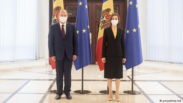 Maia Sandu și Bogdan Aurescu la Chișinău