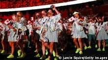 TOKYO, JAPAN - JULY 23: Athletes from Team Germany are seen during the Opening Ceremony of the Tokyo 2020 Olympic Games at Olympic Stadium on July 23, 2021 in Tokyo, Japan. (Photo by Jamie Squire/Getty Images)