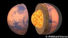 Artist's view of the internal structure of Mars Cedit: IPGP/David Ducros