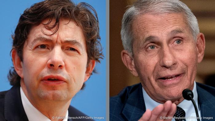 Bildkombo Christian Drosten & Anthony Fauci |Virologen Deutschland & USA