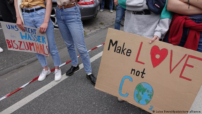The Fridays for Future march took place in Hamburg against the backdrop of floods in western Germany last week and the ongoing pandemic