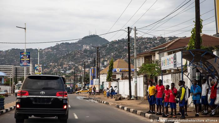 A street in Freetown, the capital of Sierra Leone