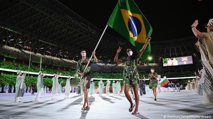 Delegação brasileira na cerimônia de abertura dos Jogos de Tóquio 2020