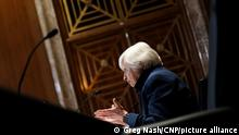 United States Secretary of the Treasury Janet Yellen answers questions during a Senate Appropriations Subcommittee hearing to examine the FY 2022 budget request for the Treasury Department on Wednesday, June 23, 2021 at the U.S. Capitol in Washington, D.C. Credit: Greg Nash / Pool via CNP