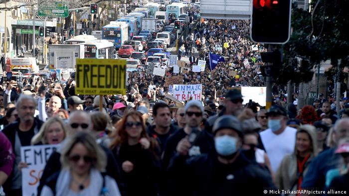 Anti-lockdown protest in Sydney