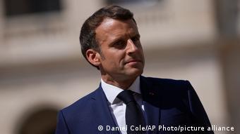 Frankreich Paris | Präsident Emmanuel Macron bei der VErabschiedung von Francois Lecointre
