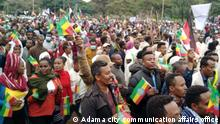 Title- residents of Adama town rally to show support for the Ethiopian army in the war with the TPLF Wo- Adama, Ethiopia Wann- 24.07.2021 Copy right- Adama city communication affairs office (the office gave permission for DW Amharic correspondent)